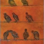 Ptasie rozmowy... 100x50 / Birds talk...