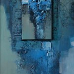 Abstrakcja nowojorska niebieska... 100 x 50  New York blue abstraction...