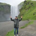 ... na Islandii, wodospad Skógafoss